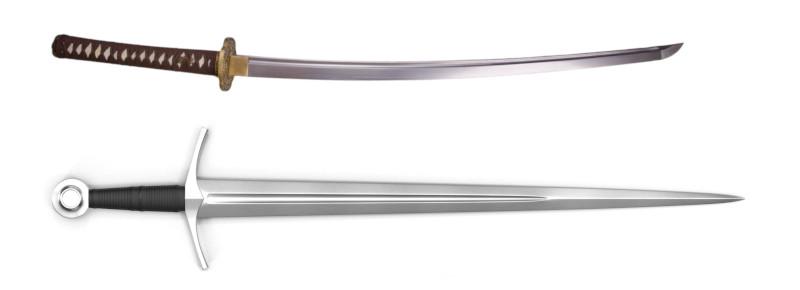 European sword versus Samurai Sword
