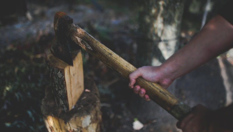 Heavy Felling Chopping Axe and Maul
